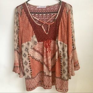 Maurices Boho Top Size 1=16W